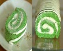St. Patricks' Day Sponge Roll Cake
