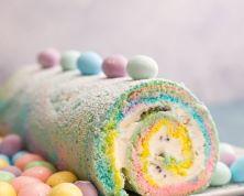 Easter Sponge Cake Roll