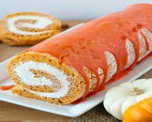 Pumpkin Sponge Cake Roll