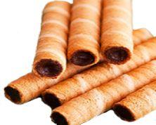 Wafer Rolls (Optional Fillings Available: Fruits, Creams, Nuts(Hazelnut, Peanut, Walnut, Cashew...),